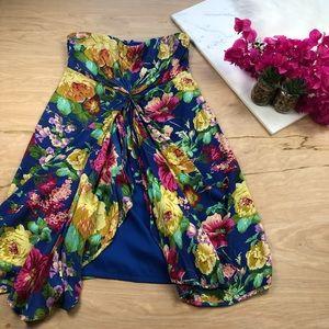 Ark & Co floral Strapless Dress